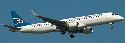 Montenegro Airlines Embraer 195