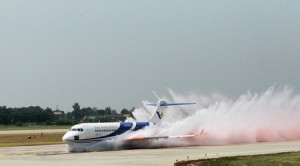 Comac ARJ21 Water Test courtesy of Comac