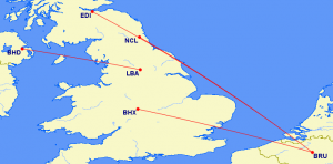 British European CRJ Routes