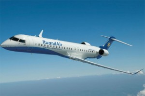 Artist's rendering of RwandAir CRJ 900