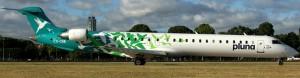 Canadair Regional Jet RJ900LR MSN 15169 CX-CRB in full PLUNA green hummingbird colour scheme (Photo By: Patrick Mutzenberg)