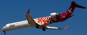 Canadair Regional Jet RJ900LR MSN 15275 CX-CRN in full PLUNA red sparrowhawk colour scheme (Photo By: Shocman)